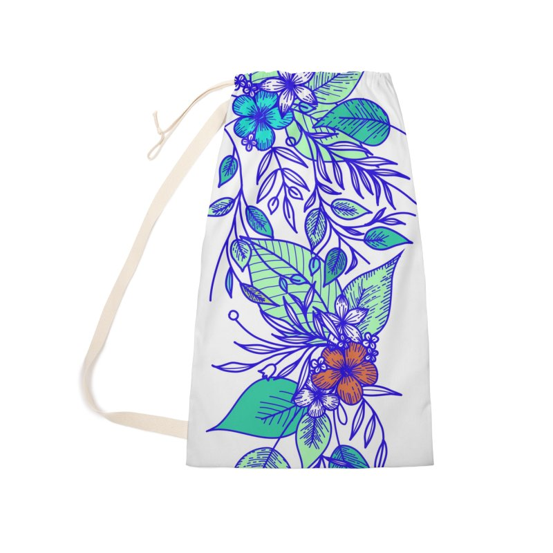 Tropical Flowers Accessories Laundry Bag Bag by libedlulo
