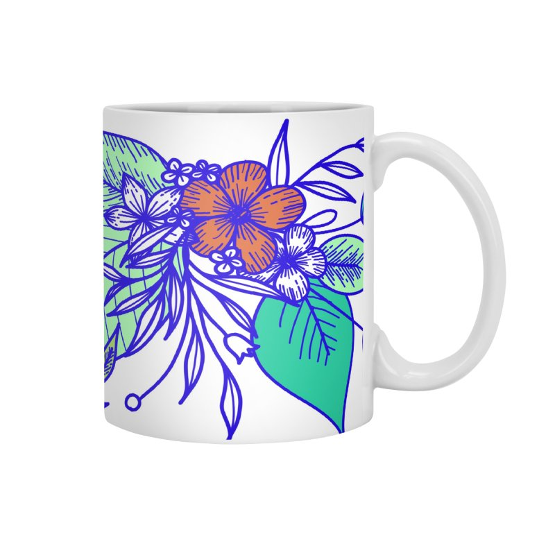 Tropical Flowers Accessories Mug by libedlulo