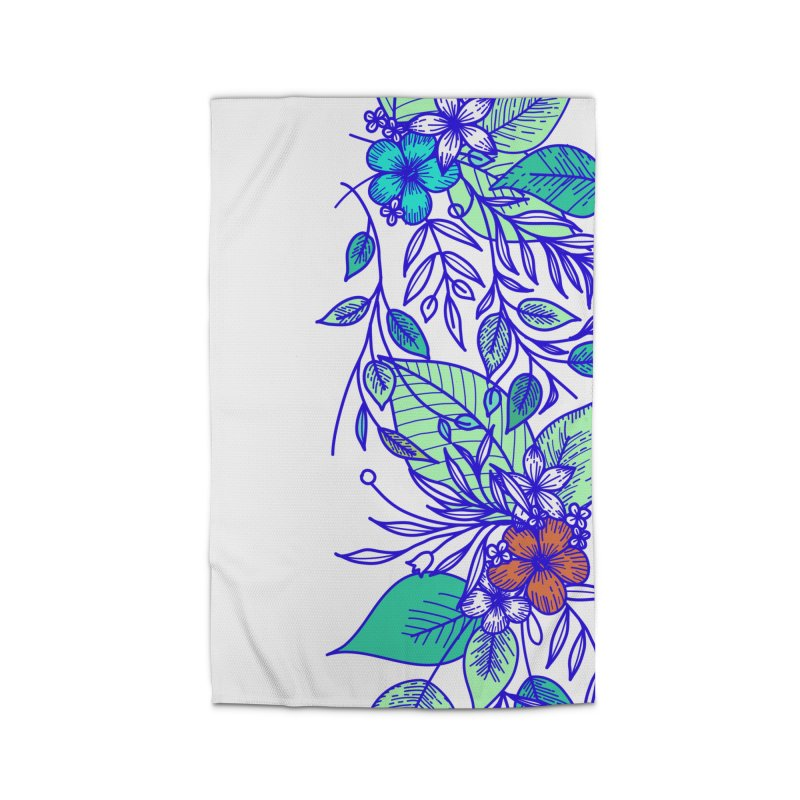 Tropical Flowers Home Rug by libedlulo
