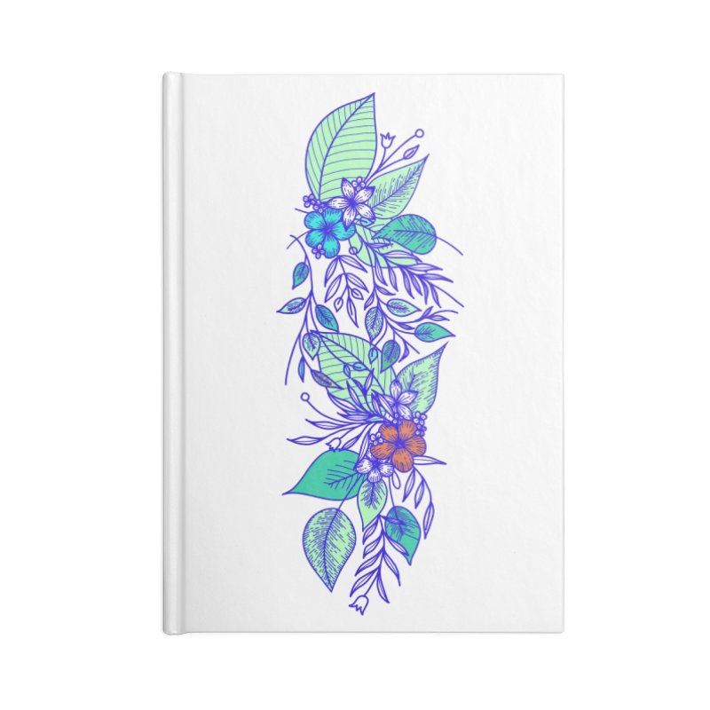 Tropical Flowers Accessories Notebook by libedlulo