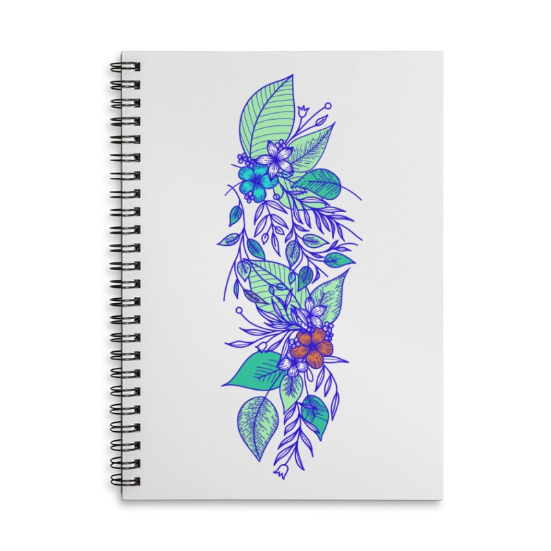 Tropical Flowers Accessories Lined Spiral Notebook by libedlulo