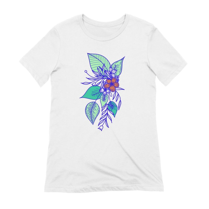 Tropical Flowers Women's Extra Soft T-Shirt by libedlulo