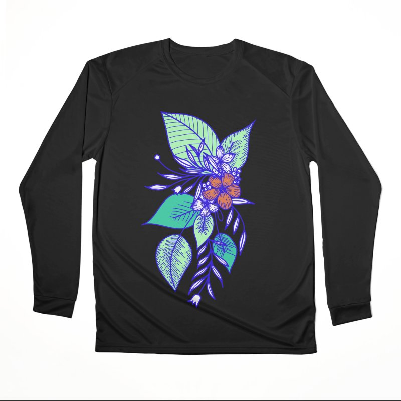 Tropical Flowers Men's Longsleeve T-Shirt by libedlulo