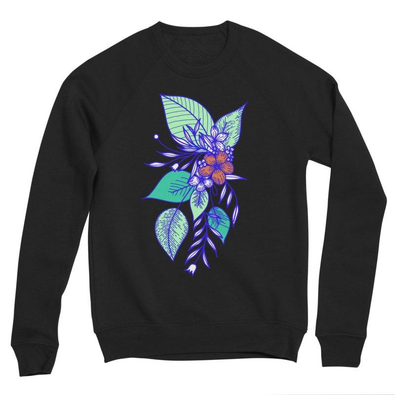 Tropical Flowers Men's Sponge Fleece Sweatshirt by libedlulo