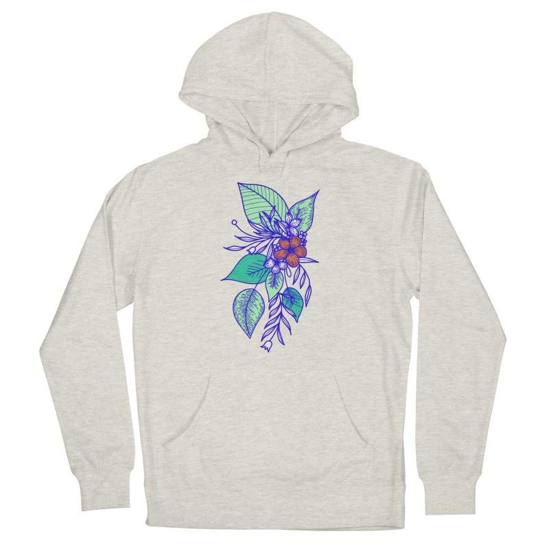 Tropical Flowers Men's Pullover Hoody by libedlulo