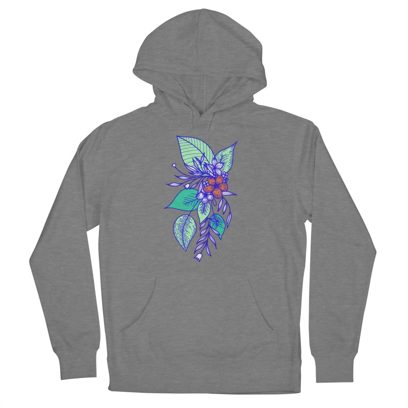 Tropical Flowers Women's Pullover Hoody by libedlulo