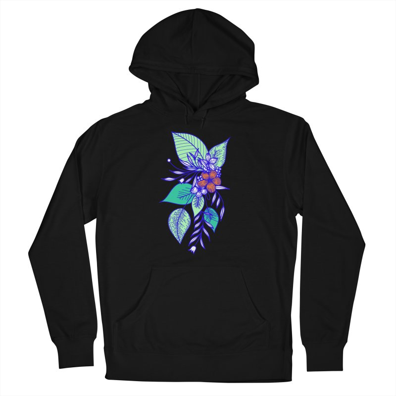 Tropical Flowers Men's French Terry Pullover Hoody by libedlulo
