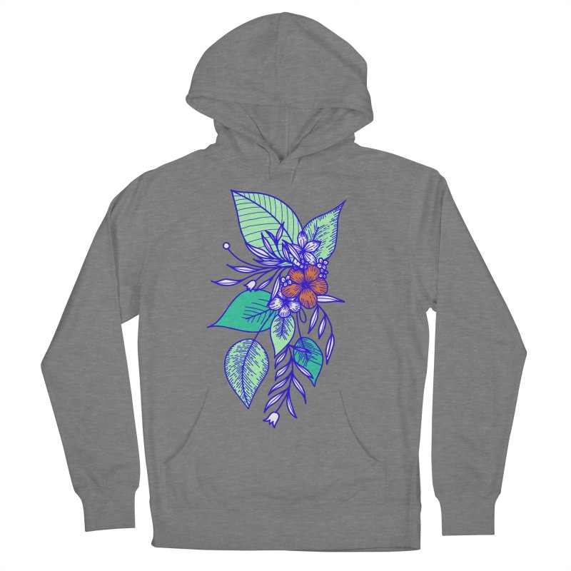 Tropical Flowers Women's French Terry Pullover Hoody by libedlulo