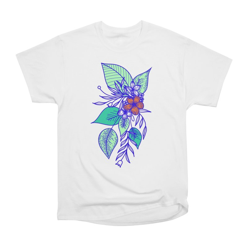Tropical Flowers Men's Heavyweight T-Shirt by libedlulo
