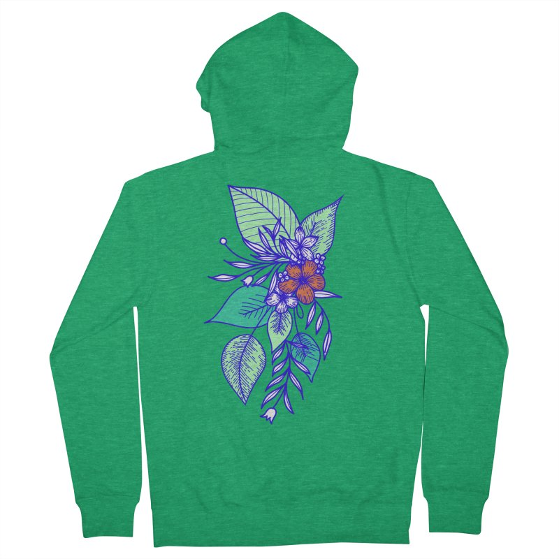 Tropical Flowers Women's Zip-Up Hoody by libedlulo
