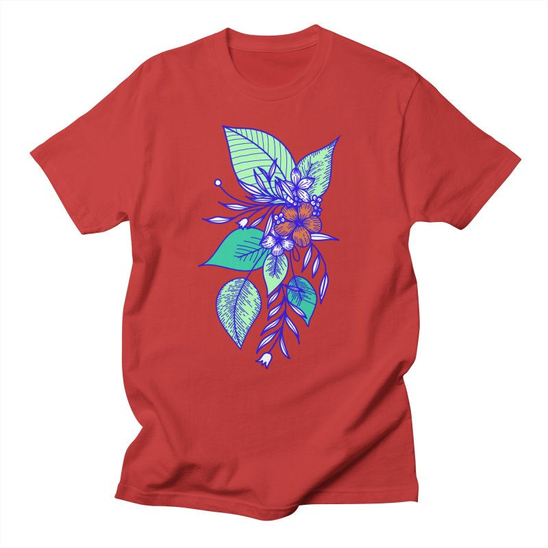 Tropical Flowers Men's T-Shirt by libedlulo
