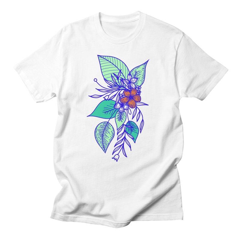 Tropical Flowers Women's Regular Unisex T-Shirt by libedlulo