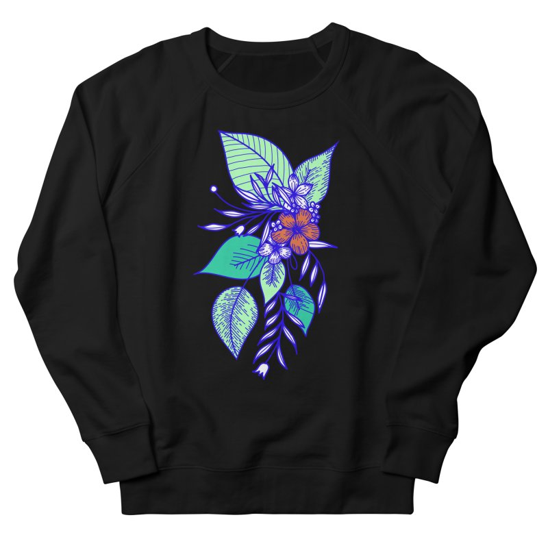 Tropical Flowers Women's French Terry Sweatshirt by libedlulo