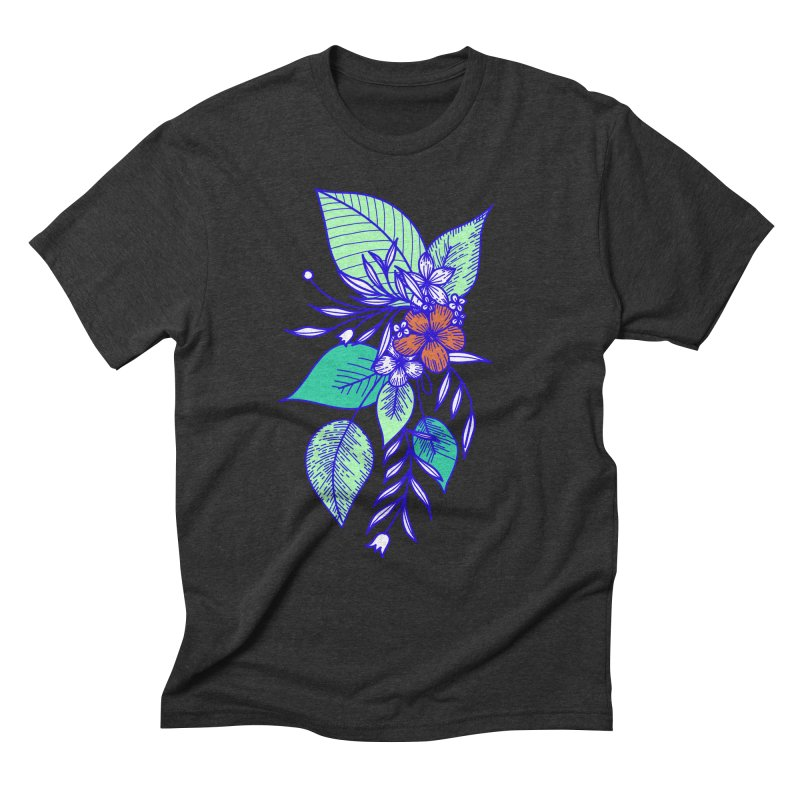 Tropical Flowers Men's Triblend T-Shirt by libedlulo