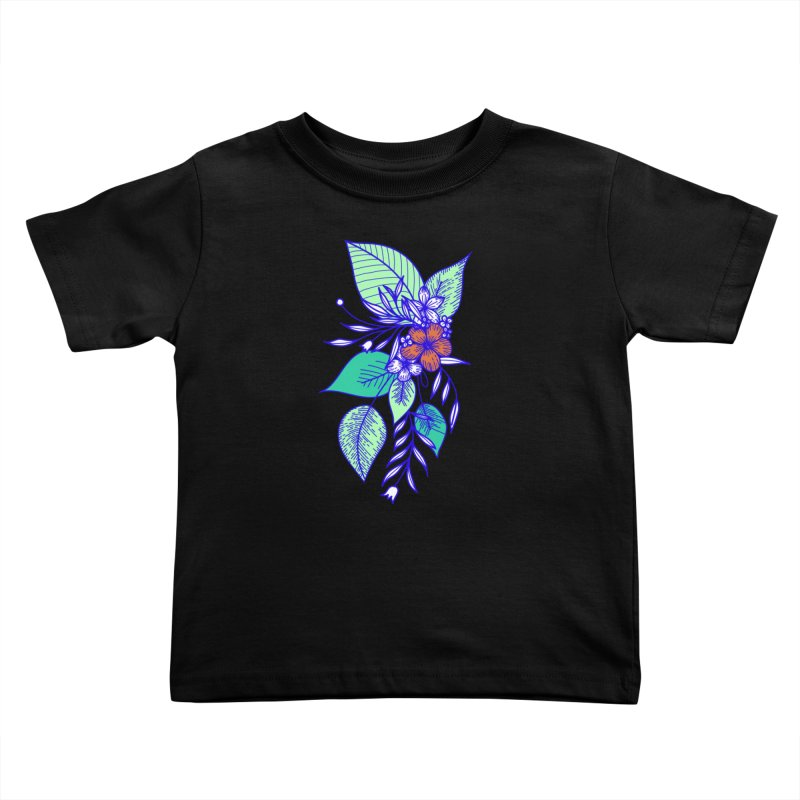 Tropical Flowers Kids Toddler T-Shirt by libedlulo