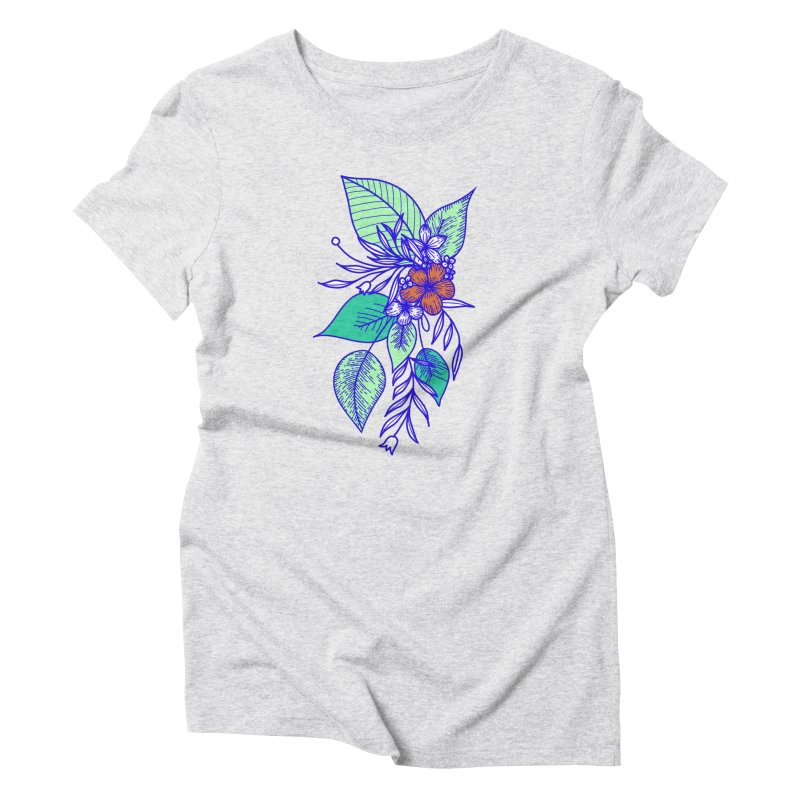 Tropical Flowers Women's T-Shirt by libedlulo