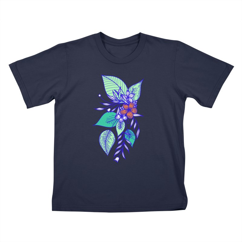Tropical Flowers Kids T-Shirt by libedlulo