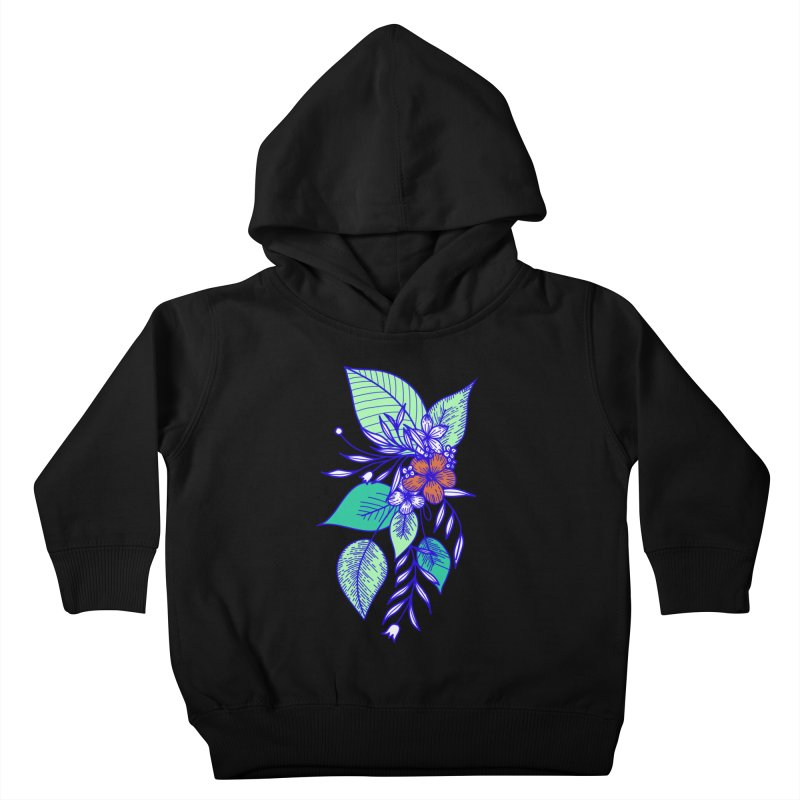 Tropical Flowers Kids Toddler Pullover Hoody by libedlulo