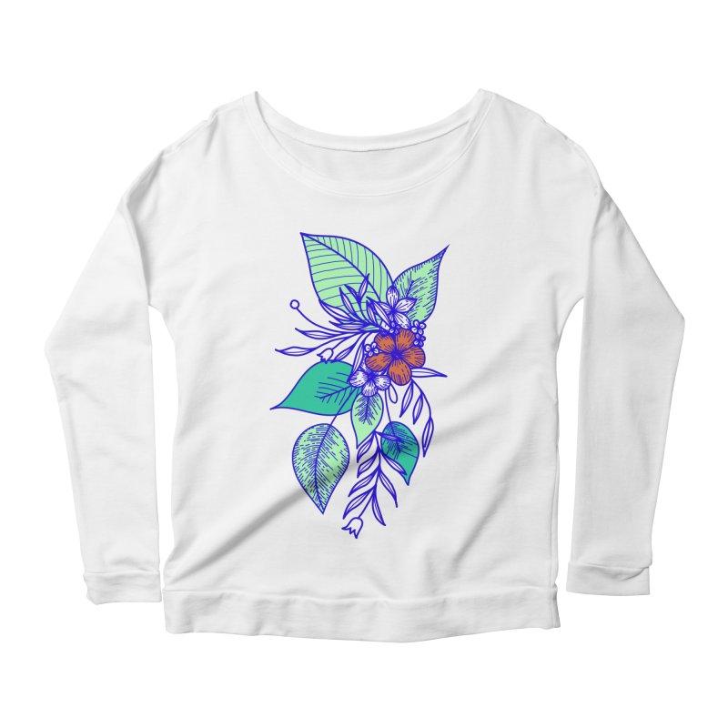 Tropical Flowers Women's Longsleeve T-Shirt by libedlulo