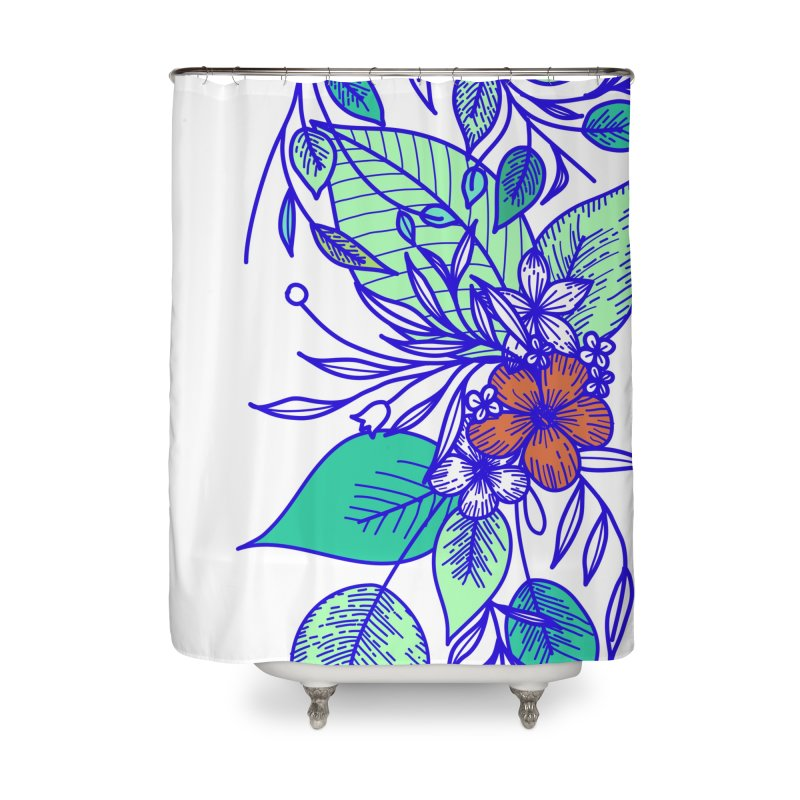 Tropical Flowers Home Shower Curtain by libedlulo