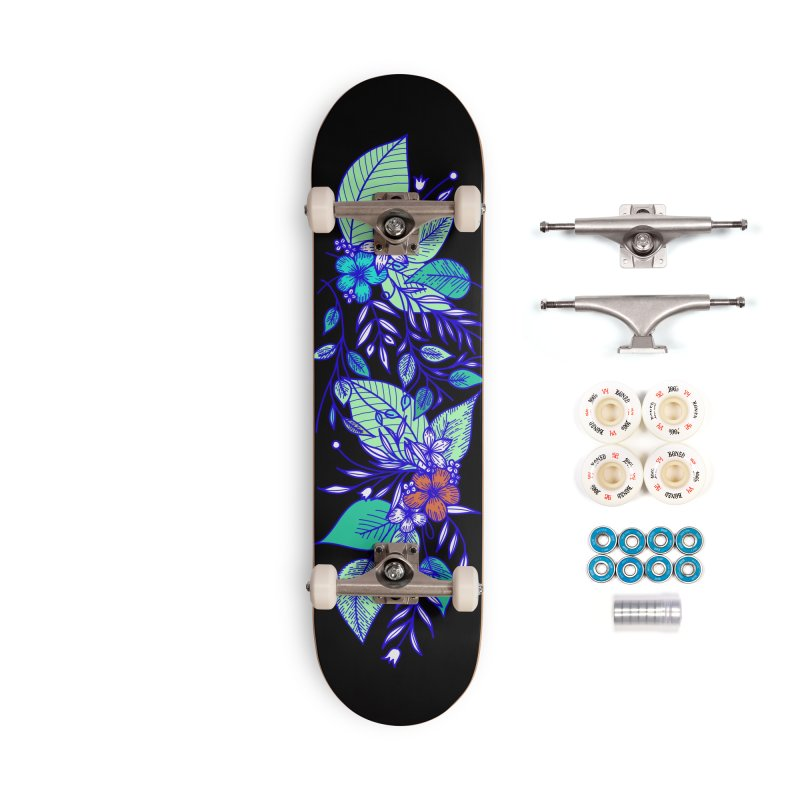 Tropical Flowers Accessories Complete - Premium Skateboard by libedlulo