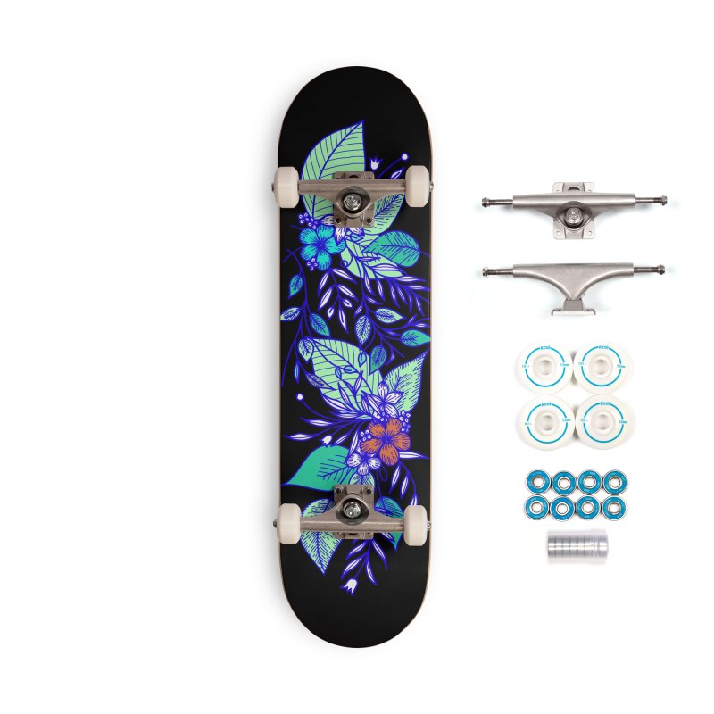 Tropical Flowers Accessories Complete - Basic Skateboard by libedlulo