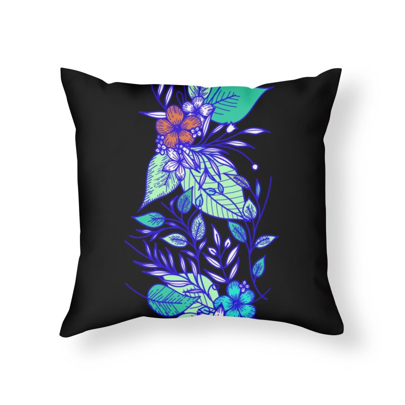 Tropical Flowers Home Throw Pillow by libedlulo