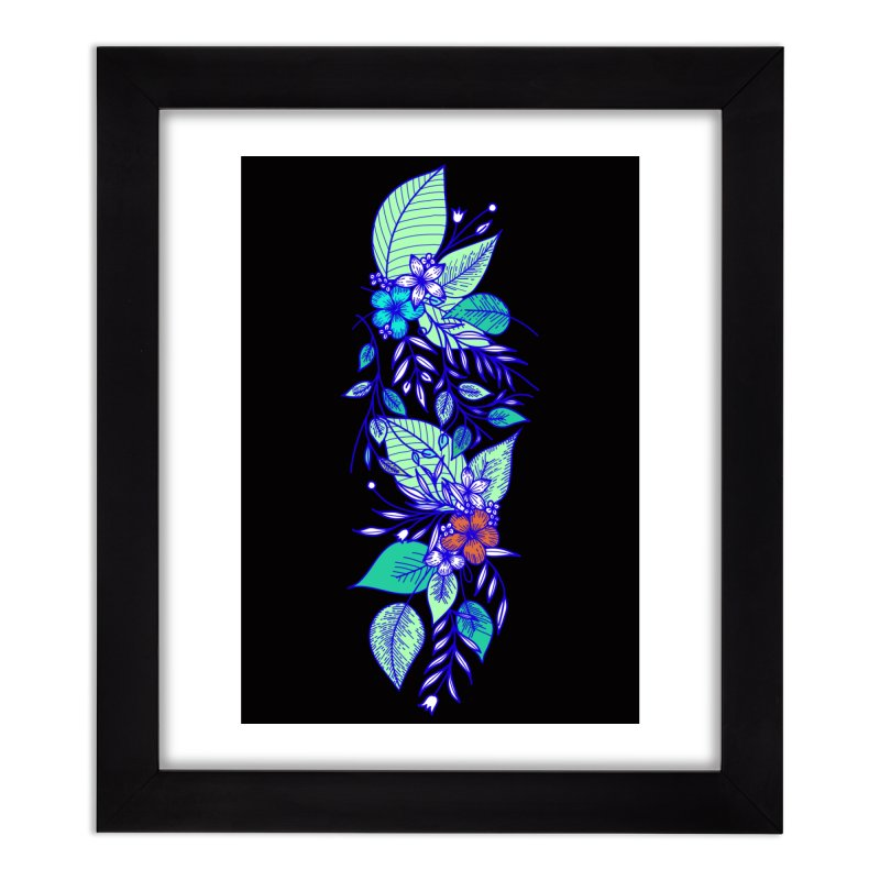Tropical Flowers Home Framed Fine Art Print by libedlulo