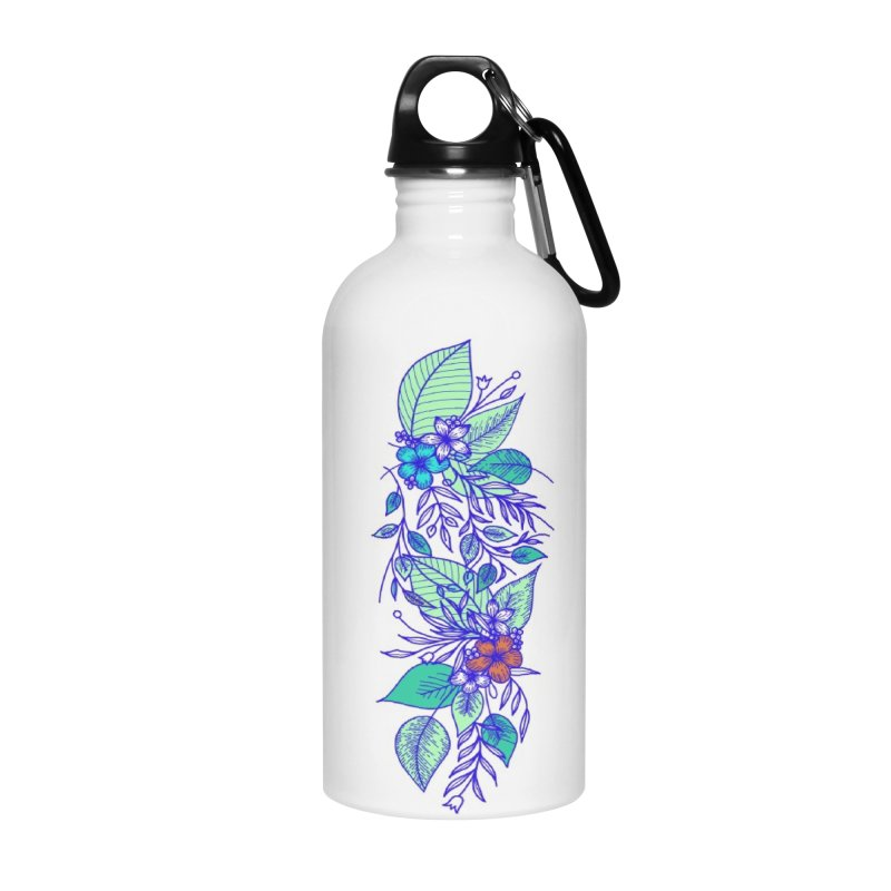 Tropical Flowers Accessories Water Bottle by libedlulo