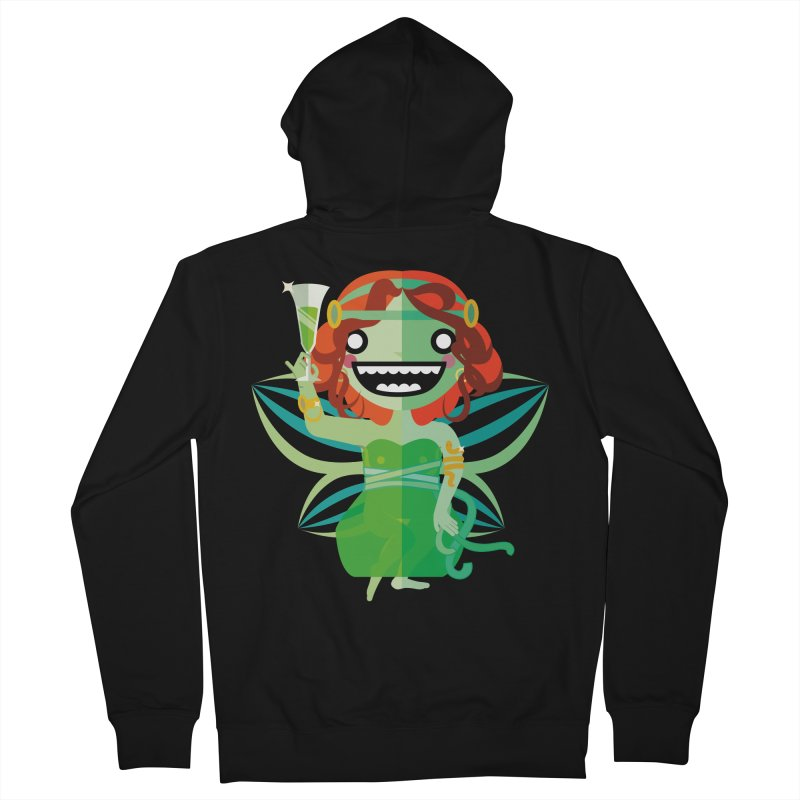 Absinthe Fairy Men's Zip-Up Hoody by libedlulo