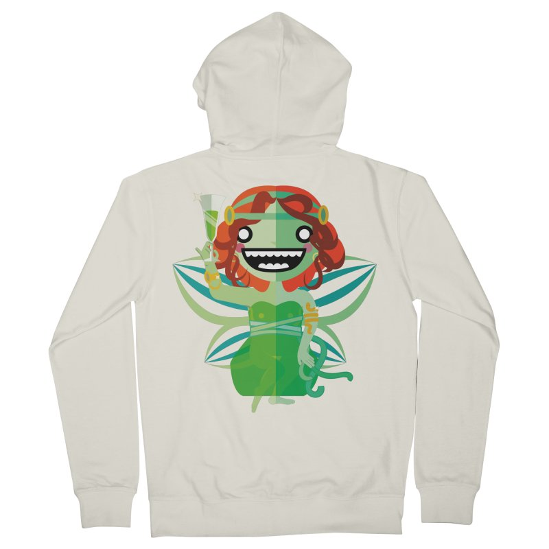 Absinthe Fairy Men's French Terry Zip-Up Hoody by libedlulo