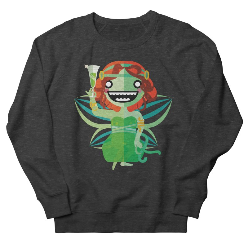 Absinthe Fairy Men's French Terry Sweatshirt by libedlulo