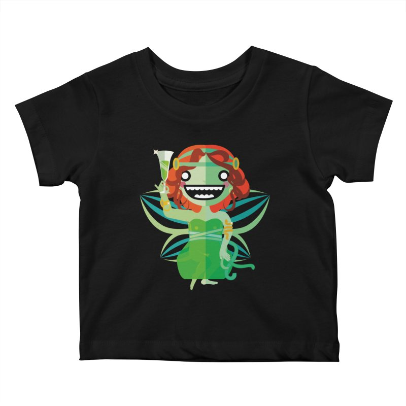 Absinthe Fairy Kids Baby T-Shirt by libedlulo