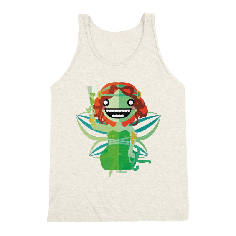 Absinthe Fairy Men's Triblend Tank by libedlulo