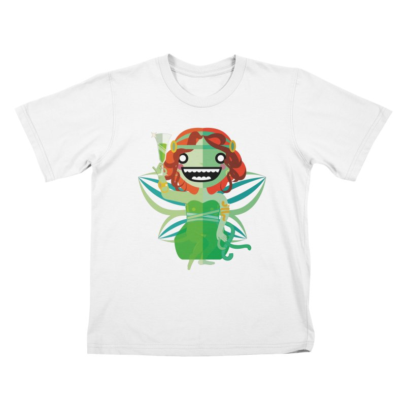 Absinthe Fairy Kids T-Shirt by libedlulo