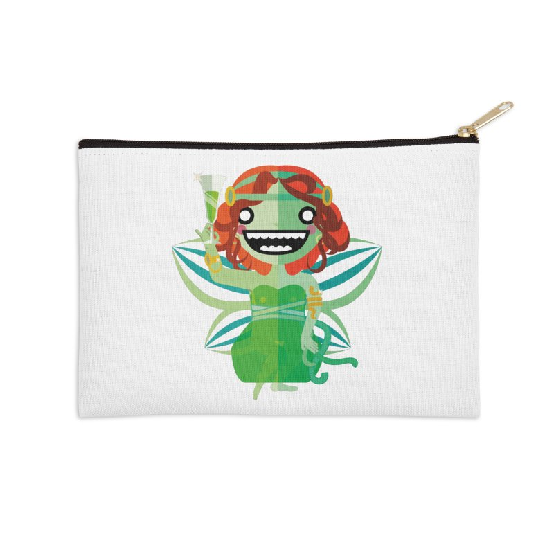 Absinthe Fairy Accessories Zip Pouch by libedlulo