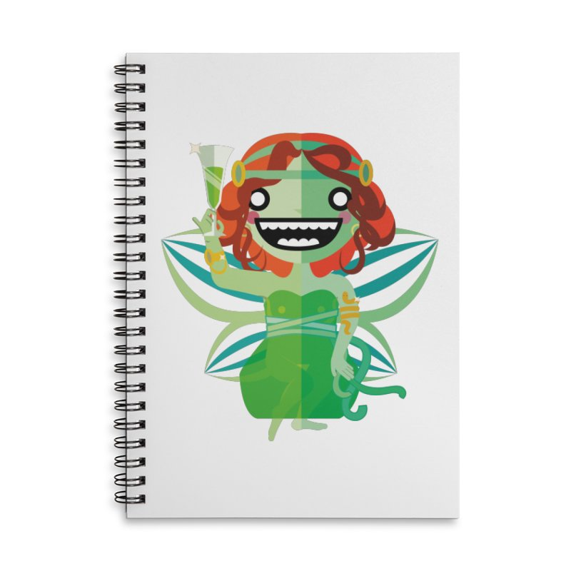 Absinthe Fairy Accessories Lined Spiral Notebook by libedlulo