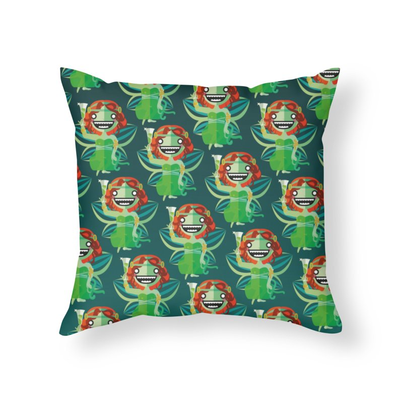 Absinthe Fairy Home Throw Pillow by libedlulo