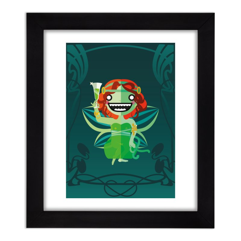 Absinthe Fairy Home Framed Fine Art Print by libedlulo