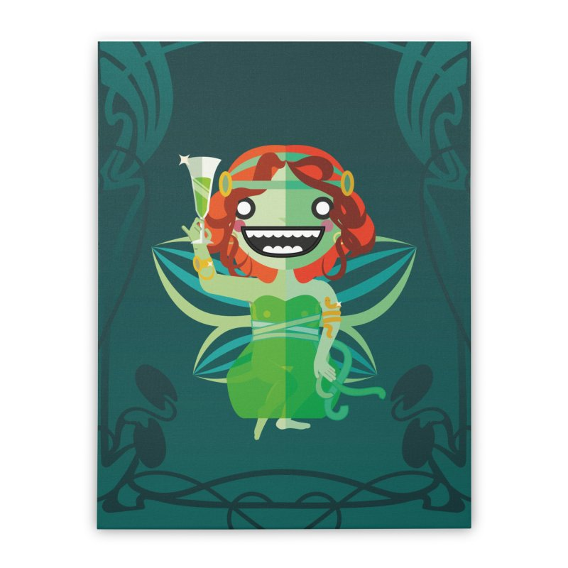 Absinthe Fairy Home Stretched Canvas by libedlulo
