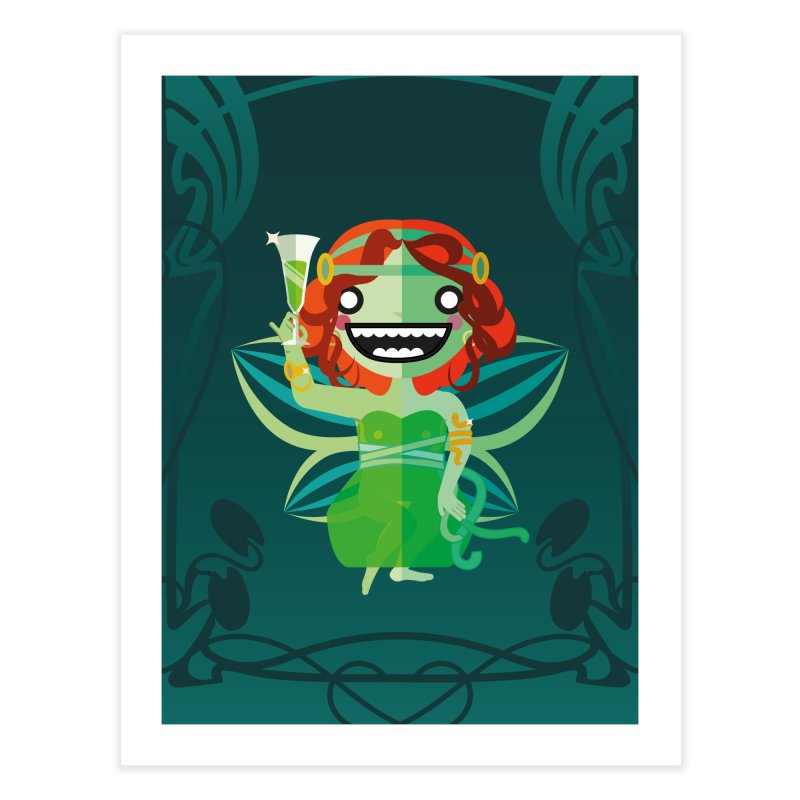 Absinthe Fairy Home Fine Art Print by libedlulo