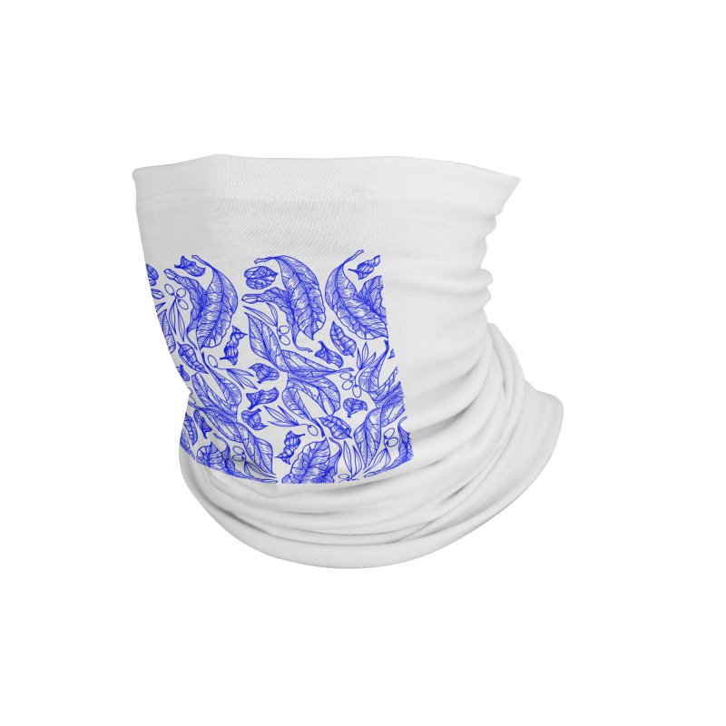 Blue Olive Leaves and Fruits Accessories Neck Gaiter by libedlulo