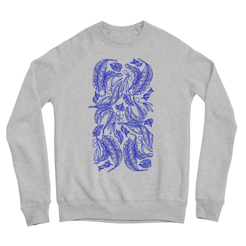 Blue Olive Leaves and Fruits Men's Sweatshirt by libedlulo