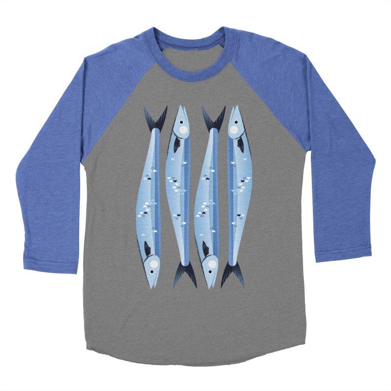 The Fish Men's Baseball Triblend Longsleeve T-Shirt by libedlulo