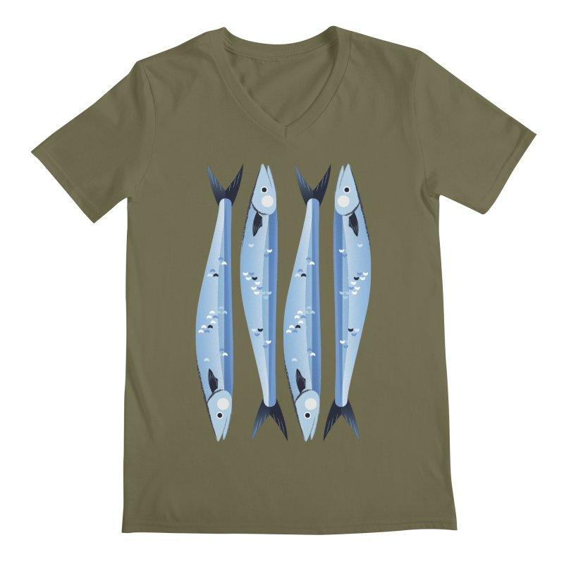 The Fish Men's Regular V-Neck by libedlulo