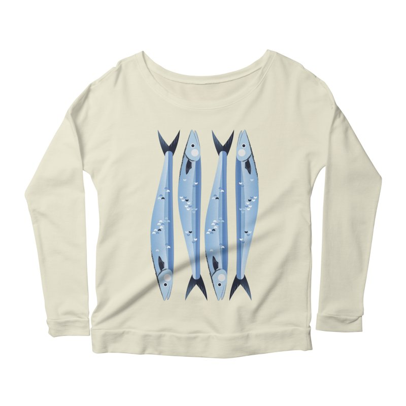 The Fish Women's Scoop Neck Longsleeve T-Shirt by libedlulo
