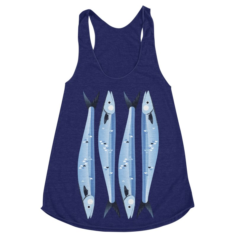 The Fish Women's Racerback Triblend Tank by libedlulo