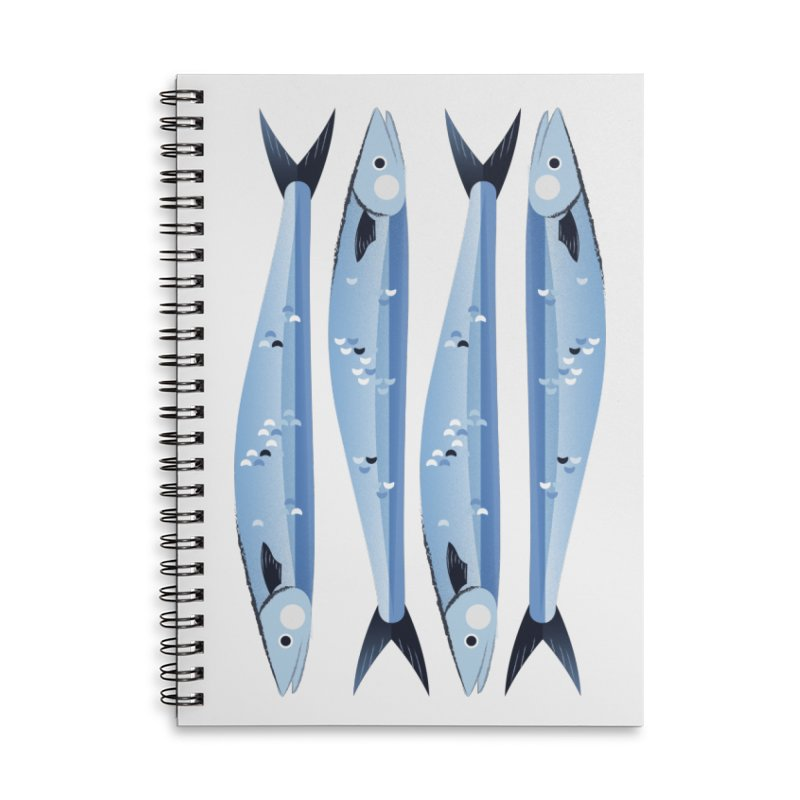 The Fish Accessories Lined Spiral Notebook by libedlulo