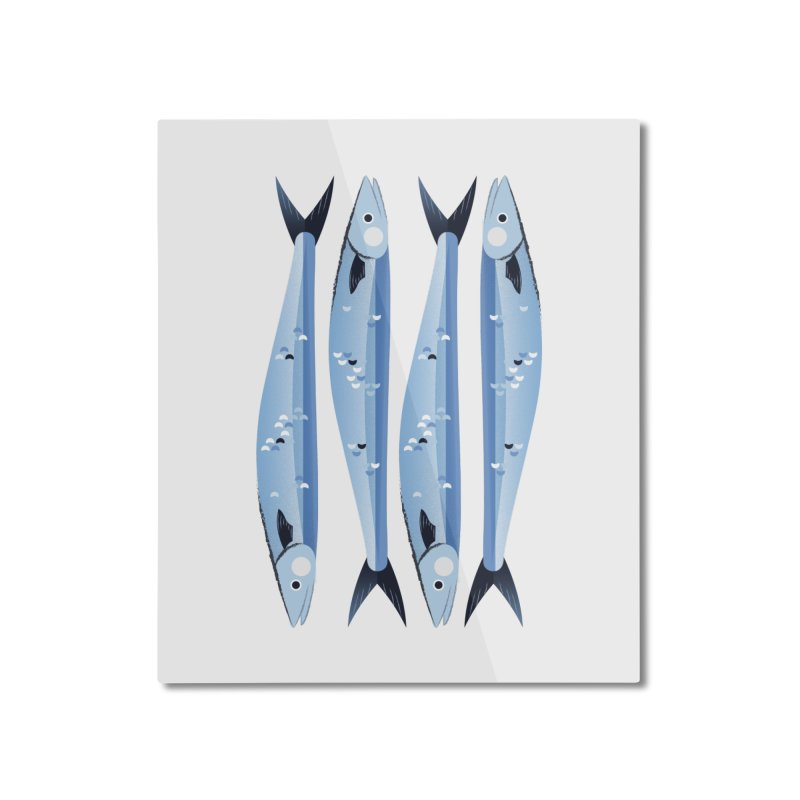 The Fish Home Mounted Aluminum Print by libedlulo