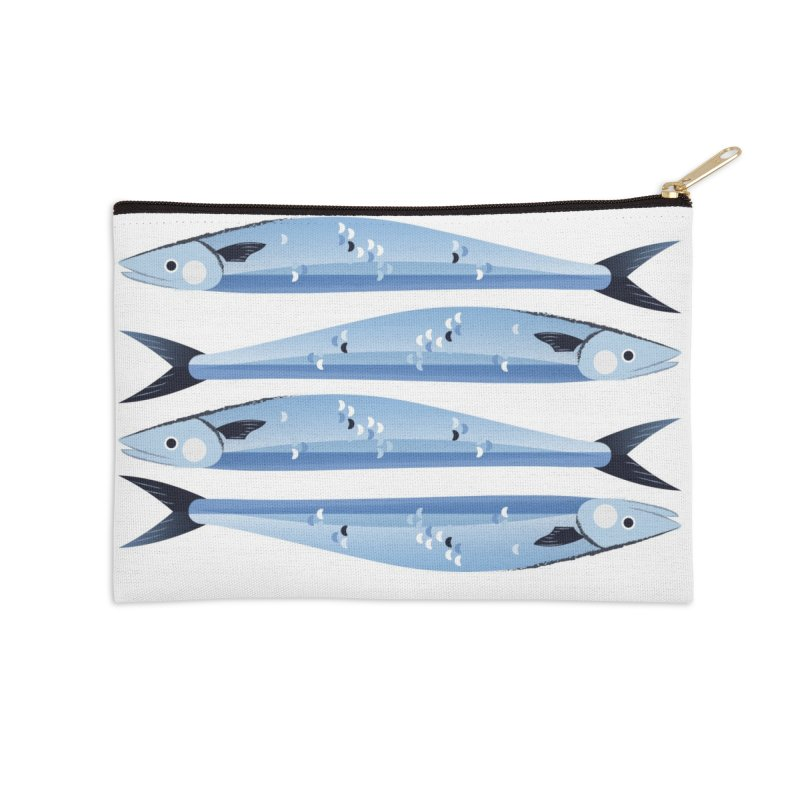 The Fish Accessories Zip Pouch by libedlulo